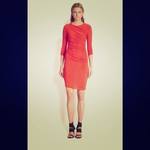 Helmut Lang Coral/red L Nova Jersey Dress